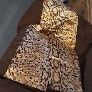 Neiman Marcus Python Scarf/Wrap